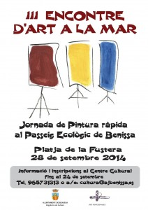 Cartell del III Encontre d'Art a la Mar de Benissa