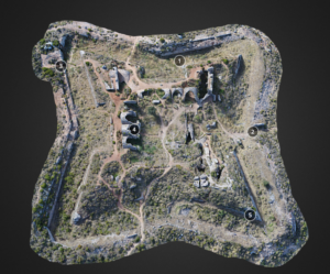 Captura del model 3D del Fort de Bèrnia