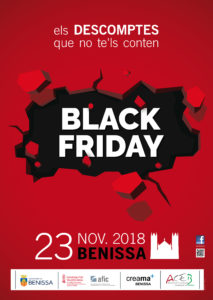 Cartell del Black Friday a Benissa